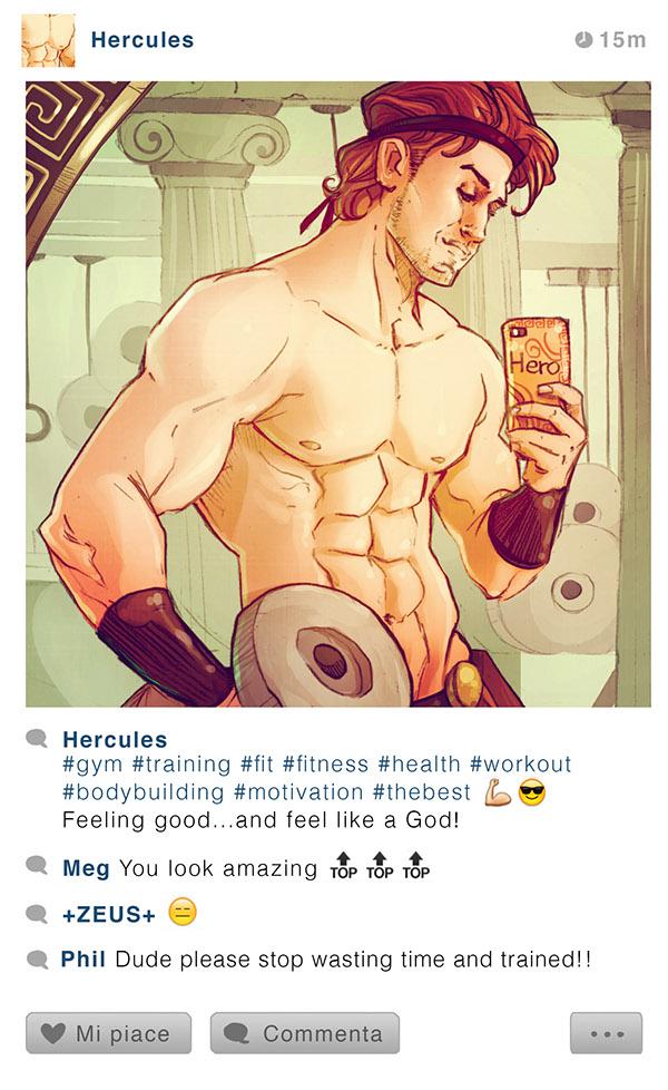 Hercules workout selfie