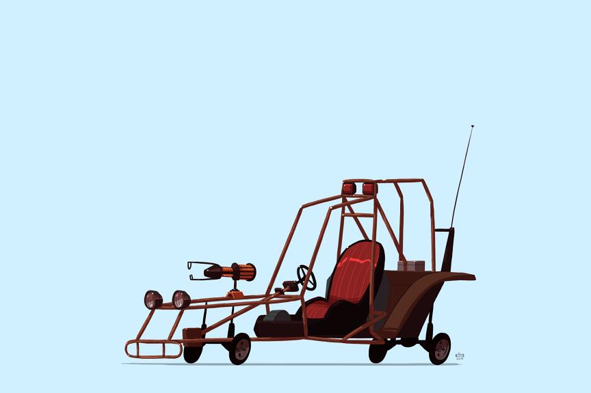 Scout Car – Half-Life 2 illustration