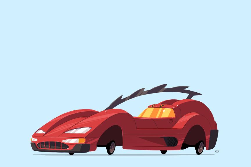 Max Damage's Red Eagle - Carmageddon