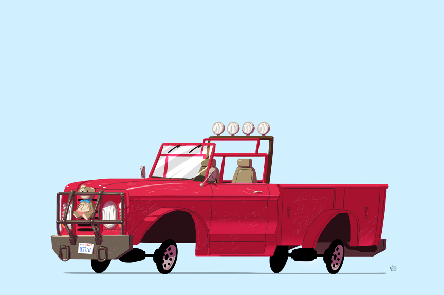 Grand Theft Auto 5 car illustration