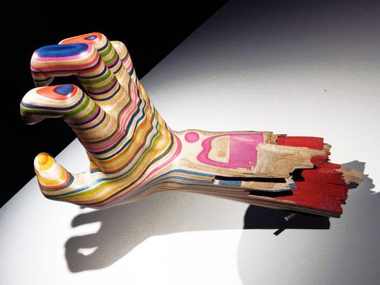 Haroshi art - a hand made of skateboard decks
